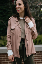 Load image into Gallery viewer, Blush Drawstring Cargo Jacket - The Angela