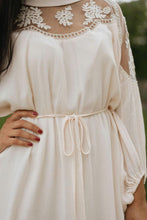 Load image into Gallery viewer, Blush/Cream Lace Trim Dress - The Ida Dress