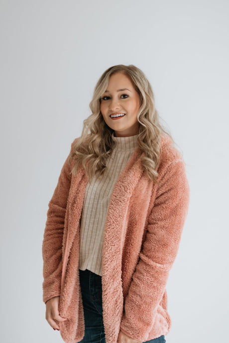 Pink Faux Fur Hooded Jacket - The O'Hara