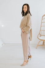 Load image into Gallery viewer, Taupe Cuffed Slouch Trouser
