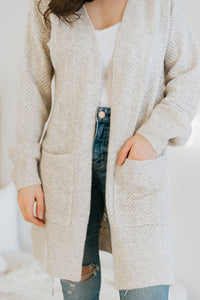 Heathered Chevron Cozy Cardigan