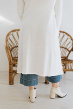Load image into Gallery viewer, Elaine Button-down Duster, Crisp White