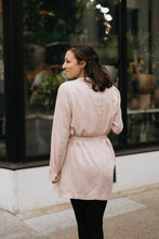 Load image into Gallery viewer, Blush Pink Tie Waist Trench w/Pockets - The Alice