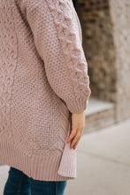 Load image into Gallery viewer, Chunky Knit Cardigan, Lavender - The Charlotte