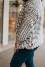 Load image into Gallery viewer, Hand Knit Dove Pom Pom Cardigan - The Amal