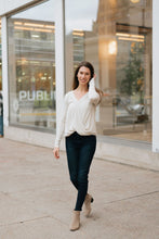 Load image into Gallery viewer, Soft Heathered Oatmeal Surplace Long Sleeve - The Jennifer
