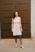 Load image into Gallery viewer, Oatmeal Sleeveless Mock Neck Sweater Dress - The Preeti