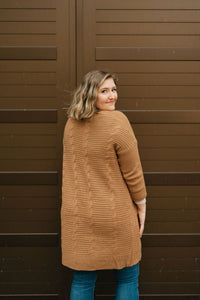 Caramel Knit Cardigan - The Steffi