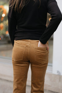 Camel Corduroy Button up Pant - The Taylor Pant