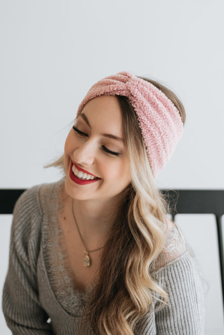 Keep Me Warm Headband - Pink