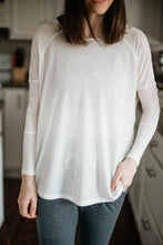 Load image into Gallery viewer, Let's Stay In Long Sleeve Tunic, White Mist (ECO)