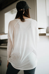 Let's Stay In Long Sleeve Tunic, White Mist (ECO)