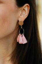 Load image into Gallery viewer, Cali Pink Tassel Dangles