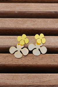 Brighter Days Floral Studs, Yellow