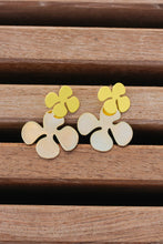 Load image into Gallery viewer, Brighter Days Floral Studs, Yellow