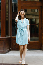 Load image into Gallery viewer, Let's Brunch Lt. Chambray Dress