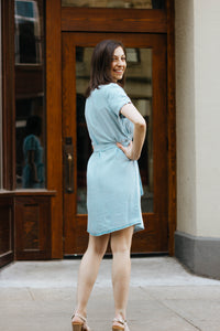Let's Brunch Lt. Chambray Dress
