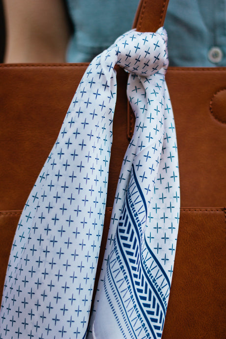 Spring Blues Silk Scarf