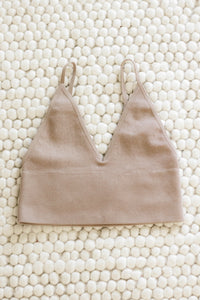 Sleep In Seamless Ribbed Brami, Dark Taupe