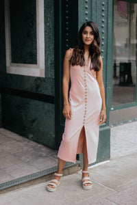 Paige Blush Ribbed Midi