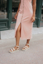 Load image into Gallery viewer, Paige Blush Ribbed Midi