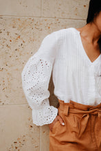 Load image into Gallery viewer, Hallie Eyelet Blouse