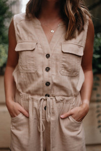 The Essentialist Romper, Nude
