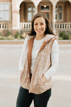 Load image into Gallery viewer, Heathered Brown Zip-up Vegan Sherpa Vest - The Eva