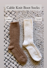 Load image into Gallery viewer, Essential Cable Knit Boot Sock, Camel