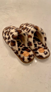 Leopard Print House Slipper Slides