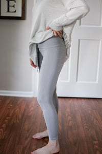 Seamless Leggings, Light Grey