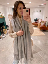 Load image into Gallery viewer, Grey Super Soft Lambswool Scarf