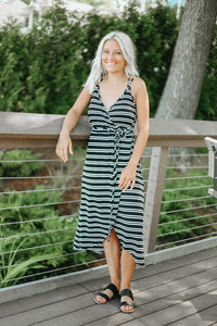 Dress Me Up Striped Midi