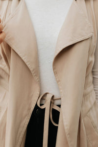 Latte Trench Vest with Collar - The Rachel