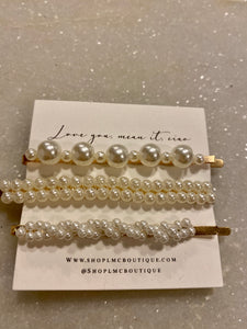 Assorted Pearl Hair Clips