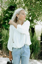 Load image into Gallery viewer, Shanley Square Neck Blouse, White