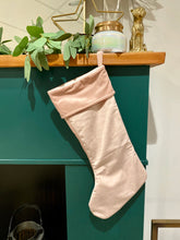 Load image into Gallery viewer, Pink Velvet Christmas Stocking