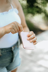 Carry Along Handheld Wallet, Haze Pink