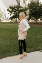 Load image into Gallery viewer, Latte Trench Vest with Collar - The Rachel