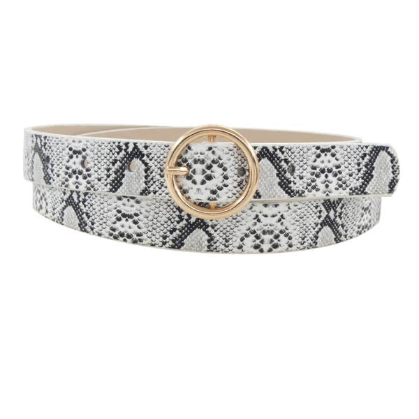 Snakeskin O Ring Belt