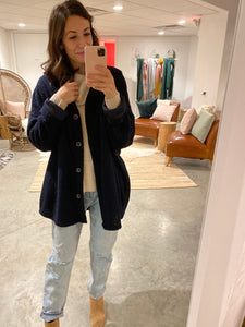 Navy Oversize Shacket