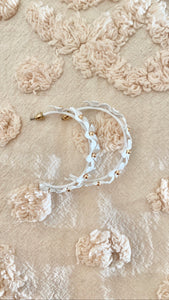 "Floral Embellished 1"" Hoops"