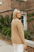 Load image into Gallery viewer, Turtleneck with Side Notches-Camel Color- The Whitney