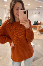 Load image into Gallery viewer, Pom Accent Knit Sweater, Saffron