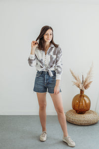 Tie Dye Button Down Blouse