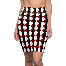 Load image into Gallery viewer, Crimson Black Women's Pencil Skirt by RIFY WEAR
