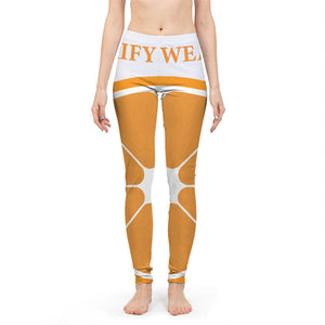 RIFY WEAR  Orange Navel Yoga Collection Women's Yoga Pant