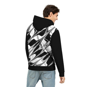 Silver Black Men's Hoodie By RIFY WEAR