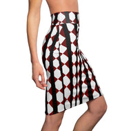 Crimson Black Women's Pencil Skirt by RIFY WEAR
