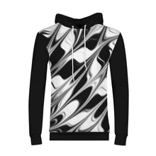 Load image into Gallery viewer, Silver Black Men's Hoodie By RIFY WEAR